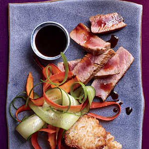 Seared Tuna Steaks with Citrusy Soy SauceRecipe