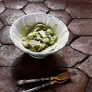 Shaved Zucchini Salad with Parmigiano and PistachiosRecipe