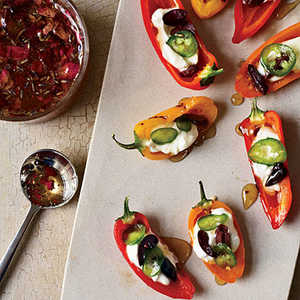 Stuffed Baby Peppers with Yogurt and Floral HoneyRecipe