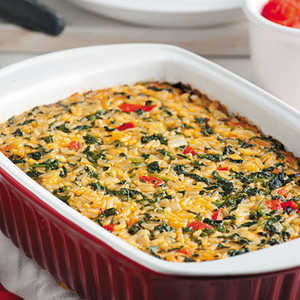 Baked Spinach & Rice