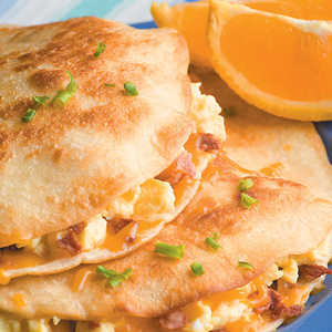 Egg and Bacon QuesadillasRecipe