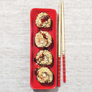 Prosciutto, Pear, and Blue Cheese Sushi