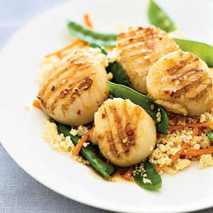 Glazed Scallops With CouscousRecipe