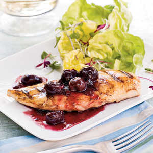 Grilled Chicken With Spicy Cherry SauceRecipe