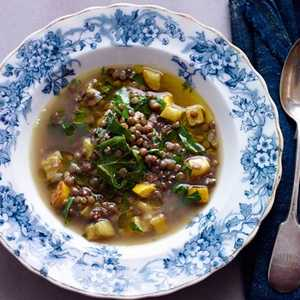 Lentil and Swiss Chard Soup With Lemon Recipe