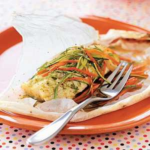 Parchment-baked Chicken with Arugula, Sage, and Rosemary Recipe