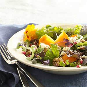 persimmon-blue-cheese-salad Recipe