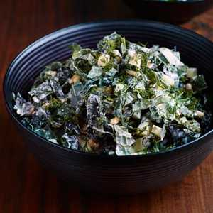 Seven-Green Kale Salad With Buttermilk DressingRecipe