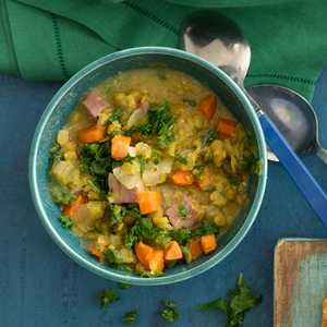 Split Pea and Greens Soup