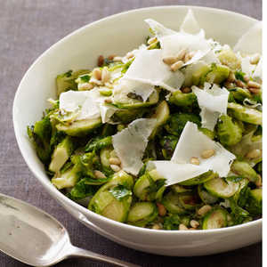 hl-Sauteed Brussels Sprouts with Parmesan and Pine Nuts