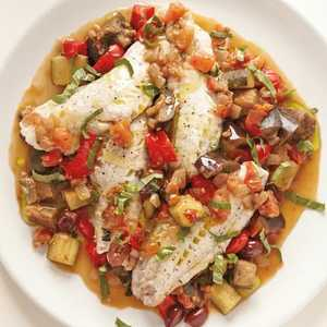 Steamed Fish with Rataouille