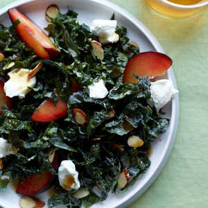 tuscan-kale-with-almonds-plums-and-goat-cheeseRecipe