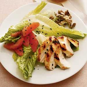 Winter Salad With Grilled Chicken, Citrus, and WalnutsRecipe