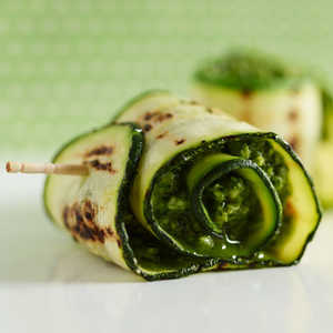 Grilled Zucchini With Parmesan Pesto