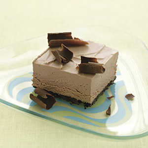 Frozen Chocolate Mousse SquaresRecipe