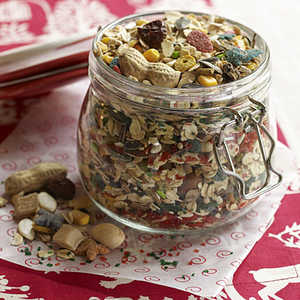 a mix of birdseeds and sugars for kids to leave for Santa's reindeerRecipe