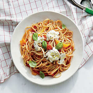 Linguine with Sweet Pepper Sauce Recipe