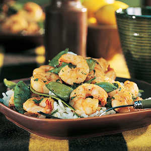 Shrimp and Snow Pea Stir-FryRecipe