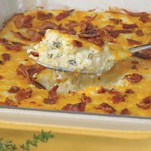 Bacon and Cheddar Cheese Grits Casserole Recipe