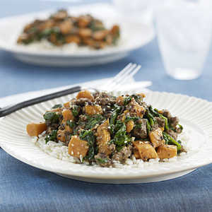 Beef with Sweet Potatoes and SpinachRecipe