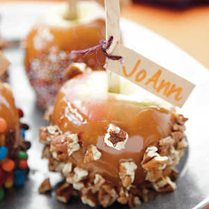 Dressed-Up Caramel Apples Recipe