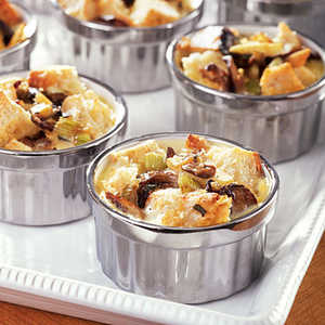 Savory Bread Pudding with Sage, Mushrooms, and Apple Recipe