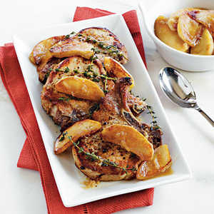 Brined Pork Chops with Apple Compote Recipe