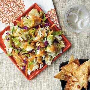 Crunchy Chinese Chicken Salad with Wonton ChipsRecipe