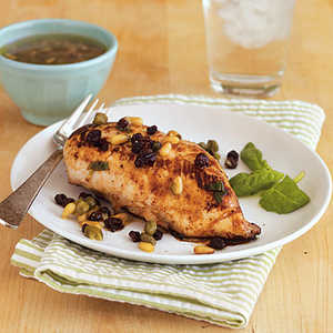 Lemon Chicken with Currants and Pine NutsRecipe