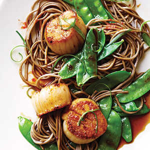 <p>Soy Citrus Scallops with Soba Noodles</p>