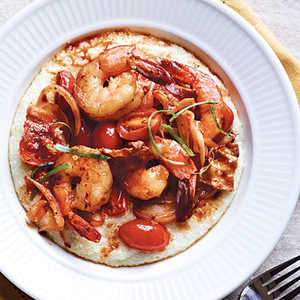 <p>Spicy Shrimp and Grits</p>