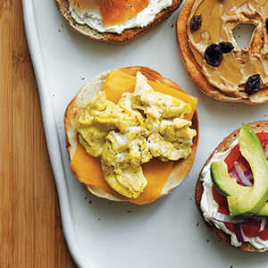 Scrambled Egg and Cheese BagelRecipe