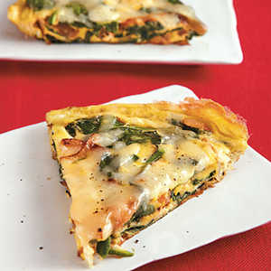 Spinach, Onion, and Swiss Frittata Recipe