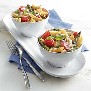 Spring Pasta with Asparagus and Grape Tomatoes Recipe