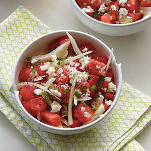 Watermelon and Fennel Salad with Honey-Lime VinaigretteRecipe