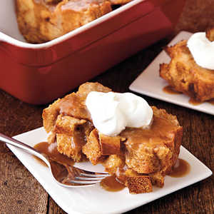 Bread Pudding with Salted Caramel SauceRecipe