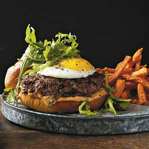 Mushroom Burgers with Fried Egg and Truffle Oil Recipe