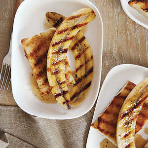 Grilled Black Pepper Bananas on Sugared Rum ToastRecipe