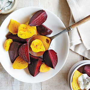 Packet-Steamed Beets With Tarragon Yogurt Recipe
