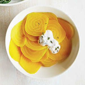 Paper-Thin Golden Beets Recipe