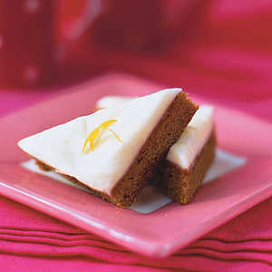 Gingerbread Squares with Lemon-Cream Cheese Frosting Recipe