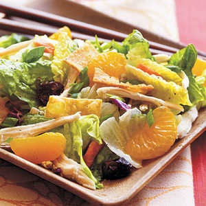 Asian Chicken Salad with Sweet and Spicy Wasabi DressingRecipe