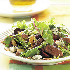 Grilled Duck Breast Salad with Champagne-Honey VinaigretteRecipe
