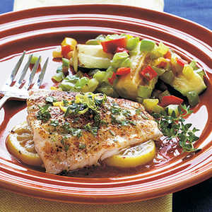 Lemon Red Snapper with Herbed ButterRecipe