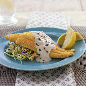 Baked Bayou Catfish with Spicy Sour Cream SauceRecipe