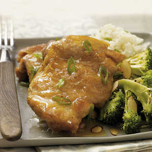 Chicken Thighs with Orange-Ginger Glaze Recipe
