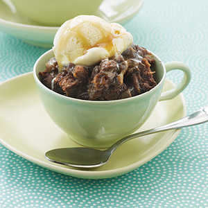 Chocolate and Caramel Bread Pudding Recipe