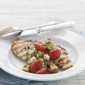Grilled Rosemary Chicken with Chunky Tomato-Avocado SalsaRecipe