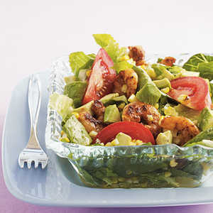 Grilled Southwestern Shrimp Salad with Lime-Cumin Dressing Recipe