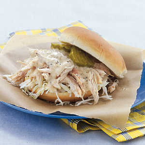 Pulled Chicken Sandwiches with White Barbecue SauceRecipe